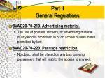 part ii general regulations12