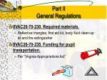 part ii general regulations13