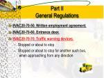 part ii general regulations3