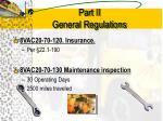 part ii general regulations7