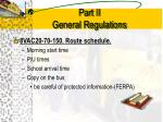 part ii general regulations9