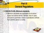part iii general regulations10
