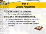 part iii general regulations2