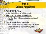 part iii general regulations3