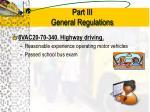 part iii general regulations4