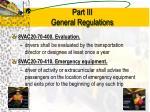 part iii general regulations7