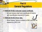 part iii general regulations8