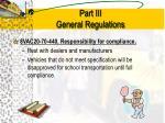 part iii general regulations9