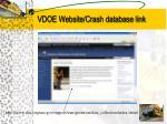 vdoe website crash database link