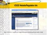 vdoe website regulation link