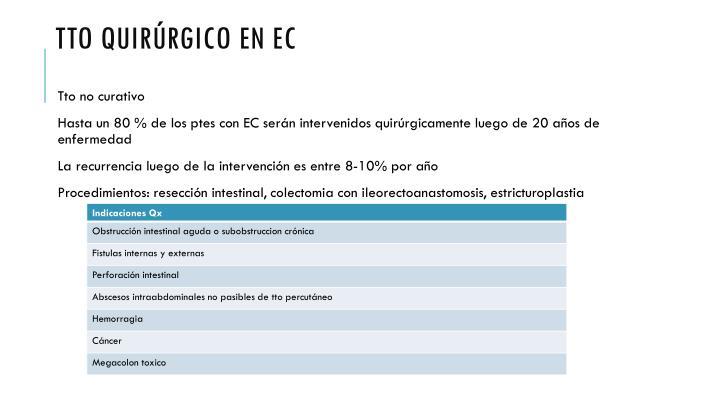 Tto quirúrgico en EC