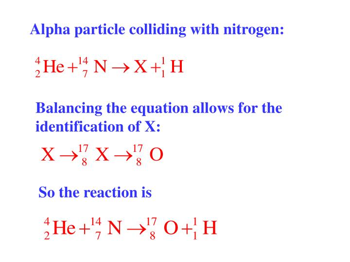 Alpha particle colliding with nitrogen: