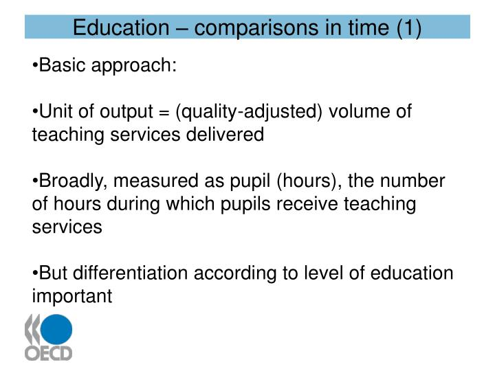 Education – comparisons in time (1)