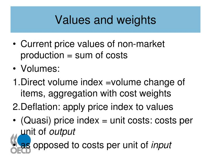 Values and weights