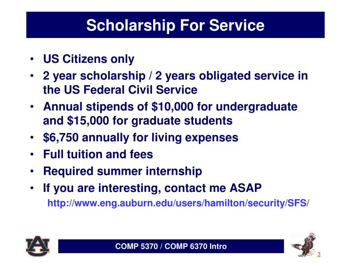 Scholarship For Service