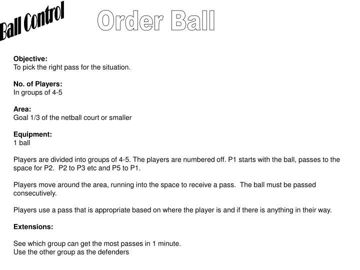 Ball Control