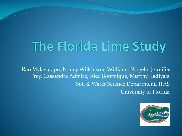 The florida lime study