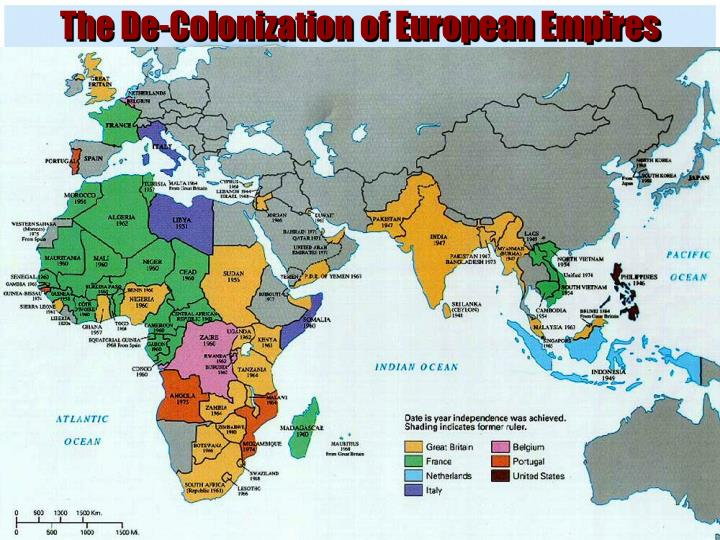 The De-Colonization of European Empires