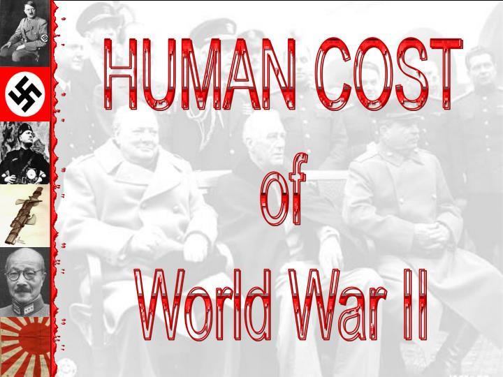 HUMAN COST