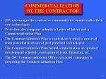 commercialization by the contractor