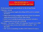 incentives to nasa inventors and jsc