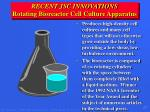 recent jsc innovations rotating bioreactor cell culture apparatus