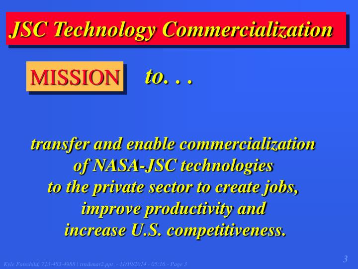 JSC Technology Commercialization