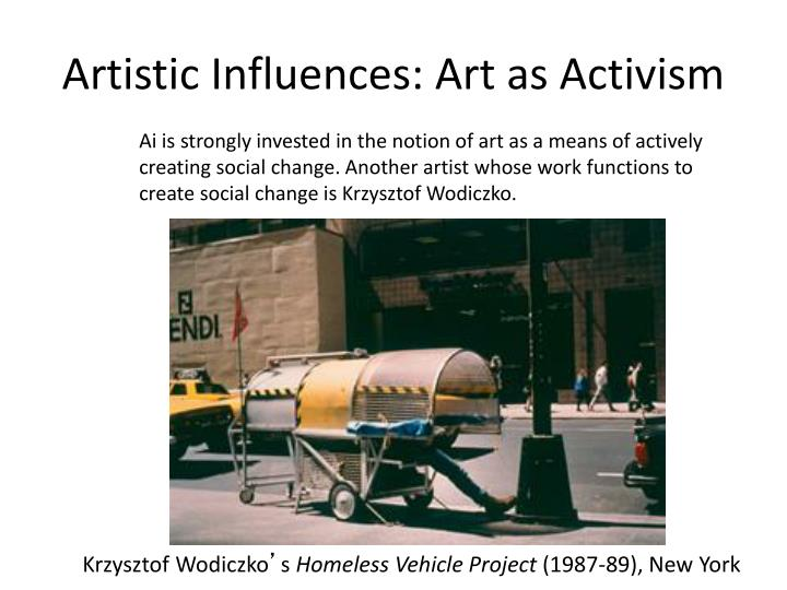 Artistic Influences: Art as Activism