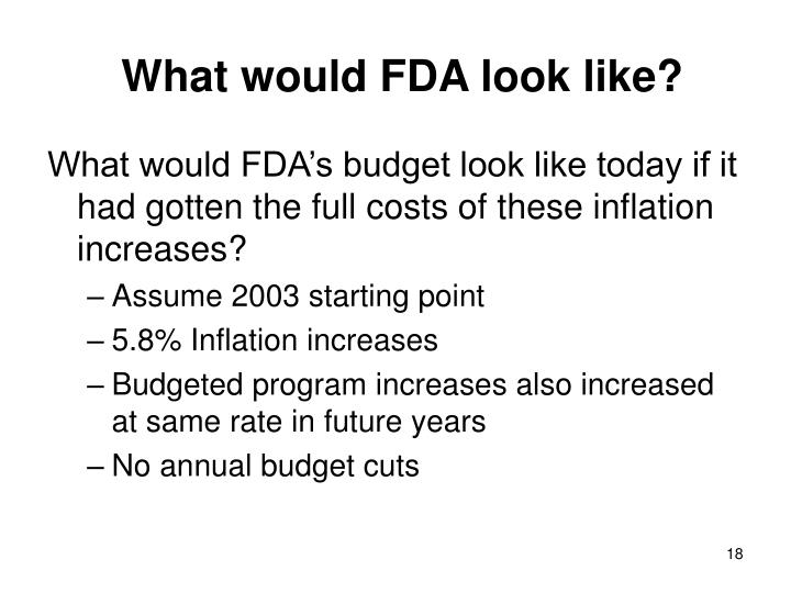 What would FDA look like?