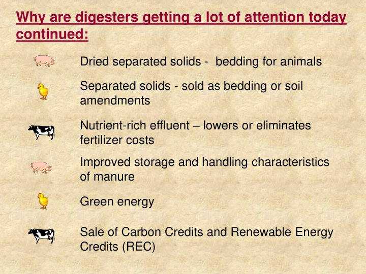 Why are digesters getting a lot of attention today