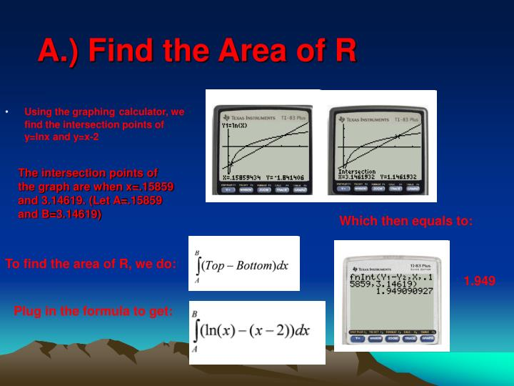 A find the area of r