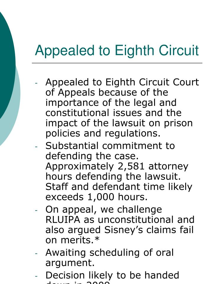 Appealed to Eighth Circuit
