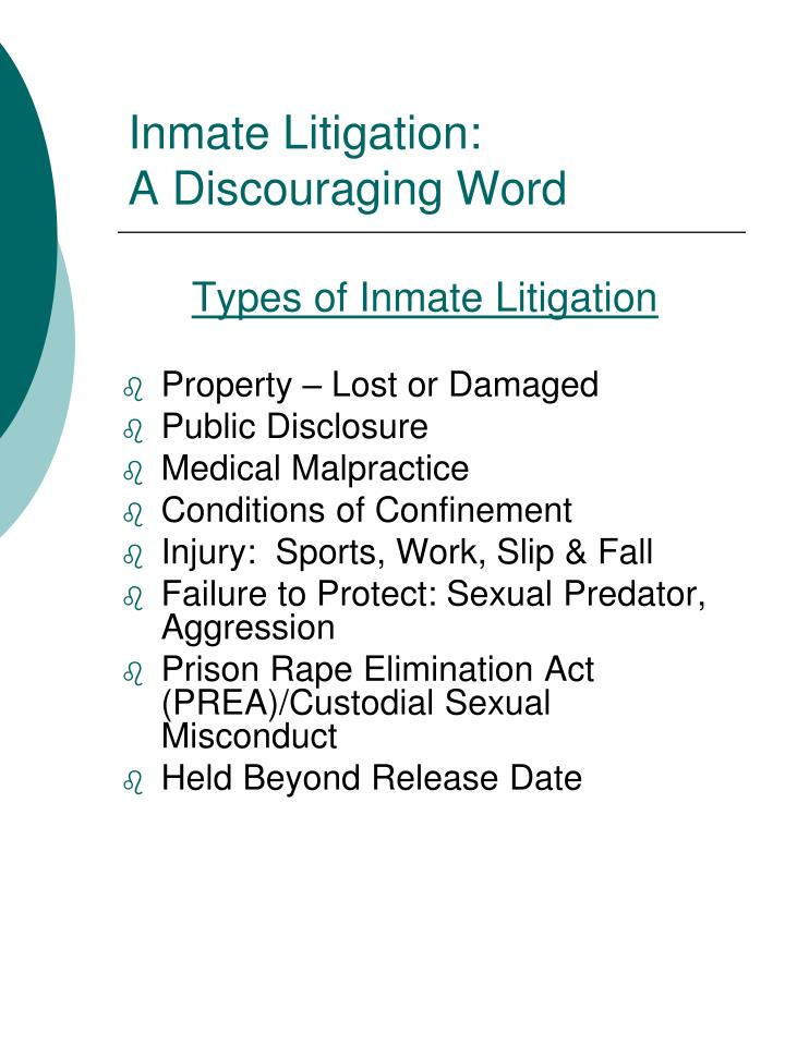 Inmate Litigation: