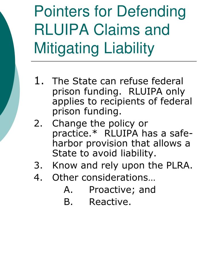 Pointers for Defending RLUIPA Claims and Mitigating Liability