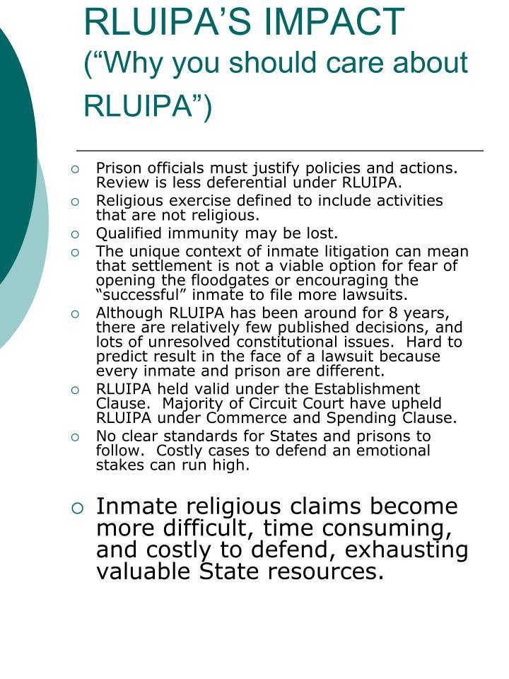 RLUIPA'S IMPACT
