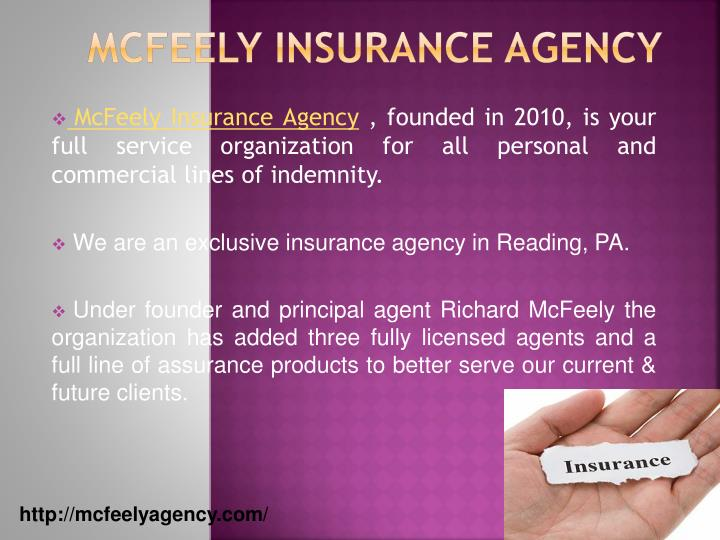 Mcfeely insurance agency