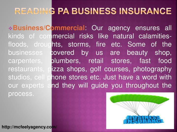 Reading PA Business Insurance