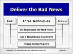 deliver the bad news