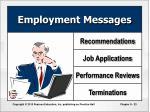 employment messages