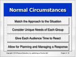normal circumstances