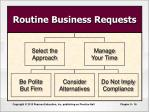 routine business requests
