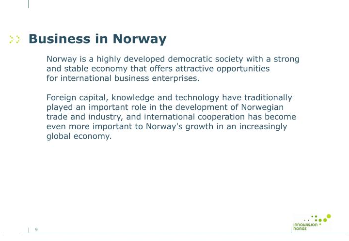 Business in Norway