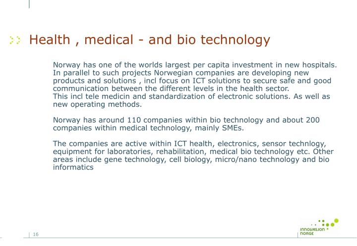 Health , medical - and bio technology