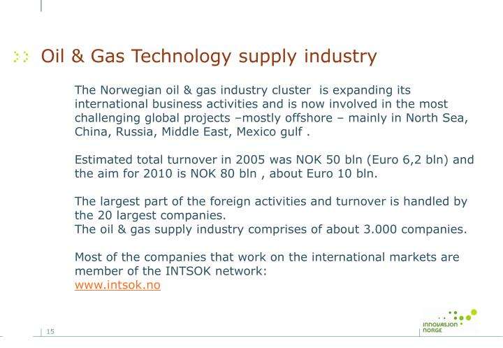 Oil & Gas Technology supply industry