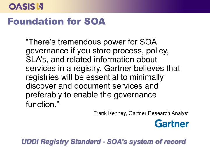 Foundation for SOA