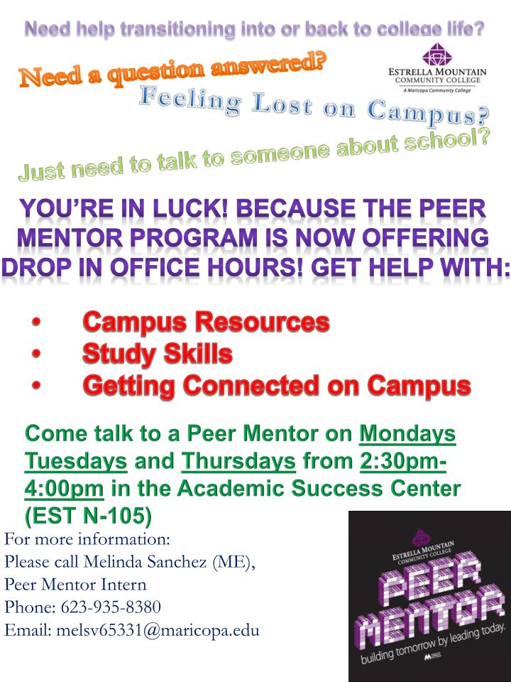Need help transitioning into or back to college life?