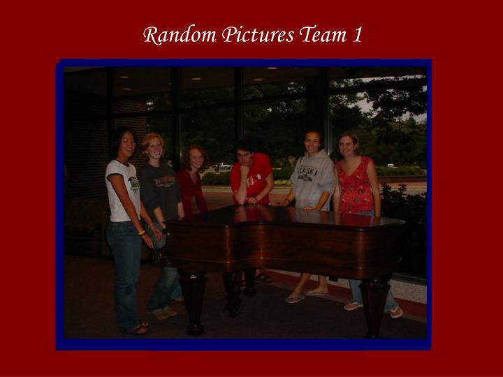 Random Pictures Team 1