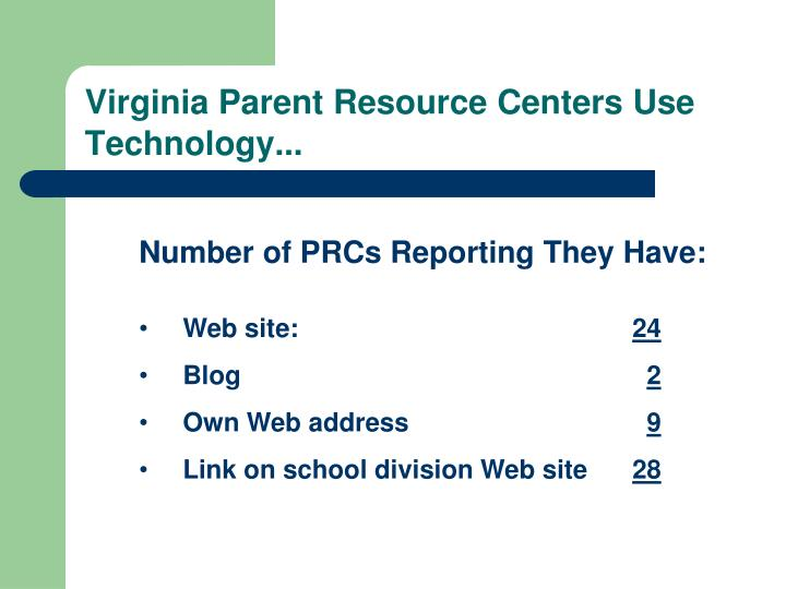Virginia Parent Resource Centers Use Technology...