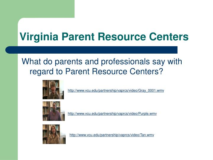 Virginia Parent Resource Centers