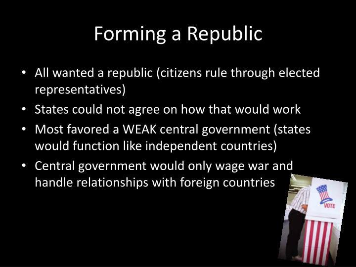 Forming a Republic